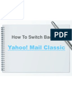 How To Switch Back To Yahoo!Mail Classic
