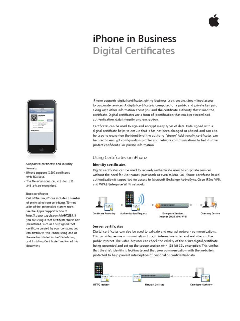 Iphone digital certificates i phone computer networking xflitez Images