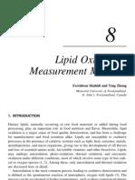 Lipid Oxidation Measurement Method
