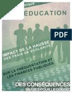Note économique frais scolarité FECQ