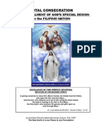Total Consecration & the Fulfillment of God's Special Design for the Filipino Nation - By Arch. Marie Cancio, The New Earth of Love Peace and Joy Foundation