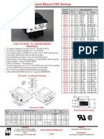 Transformers Datasheet-Low Voltage - P.C. Board Mount