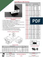 Transformers Datasheet-Low Voltage - P.C. Board Mount