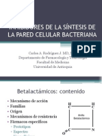 1 - Inhibidores de síntesis de pared
