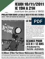 Ciné-club 10/11/2011