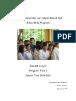GPOBA Education Annual Report 2011 FINAL