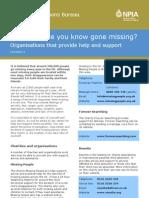 Factsheet 4 - Organisations Help and Support