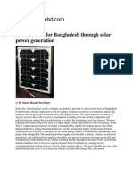 Green Future for Bangladesh Through Solar Power Generation