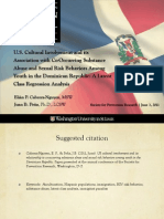 US Cultural Involvement and Its Association With Co-occuring Substance Abuse and Sexual Risk Behaviors Among Youth in the Dominican Republic