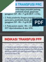 INDIKASI TRANSFUSI PRC
