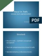 3a Riscul in Trafic - Concept, Teorii, Operationalizari