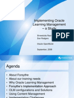 Oracle Learning Management
