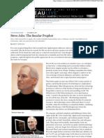 Steve Jobs, The Secular Prophet - WSJ