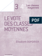 Le vote des classes moyennes - Elisabeth Dupoirier