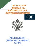 Introd Al Est Gral de Las Doctr Hindues