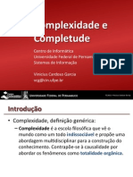 If969 - Complexidade e Completude