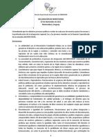 Declaración Final (REJ 2011)
