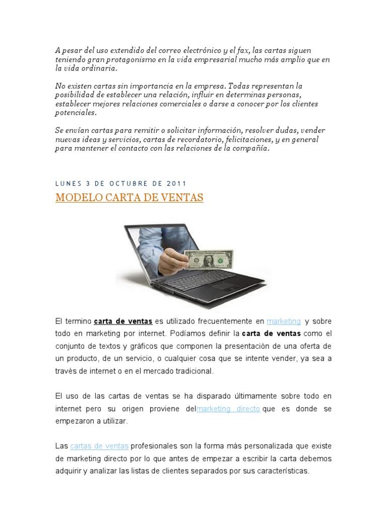 carta de ventas