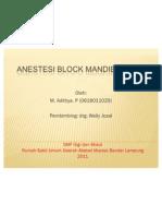 Ppt Anestesi Block Mandibula1
