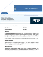 How to Apply for RBI Young Scholar Award?