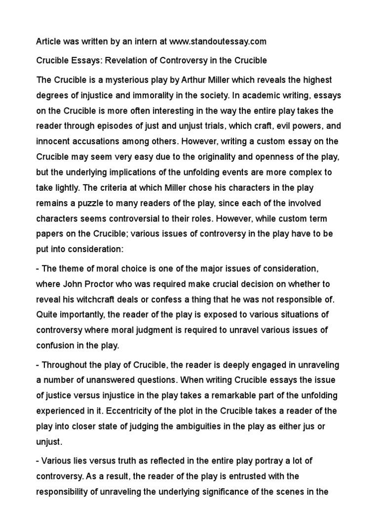 Humanities Essays  El Nino Essay also Essay Capital Crucible Essays Revelation Of Controversy In The Crucible Stephen Hawking Essay