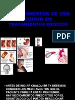 Medicamentos de Uso Comun en Tratamientos Medicos