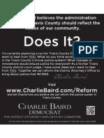 Charlie Baird Exploratory Campaign August 14 Austin Chronicle Ad