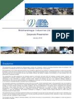Walchandnagar Corporate Presentation