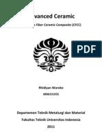 Advanced Ceramic - Continous Fiber Ceramic Composite (CFCC)