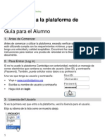 Guia para el Alumno. Introduccion a la plataforma de Cambridge