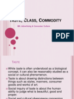 Taste, Class, Commodity (5)