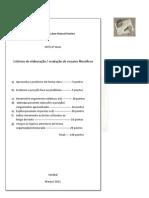 critérios aval. ensaios