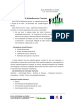 Métodos e Técnicas de Análise Económica Financeira