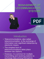 Management of Telecommunication Systems