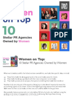 Women on Top-10 Stellar PR Agencies Owned by Women