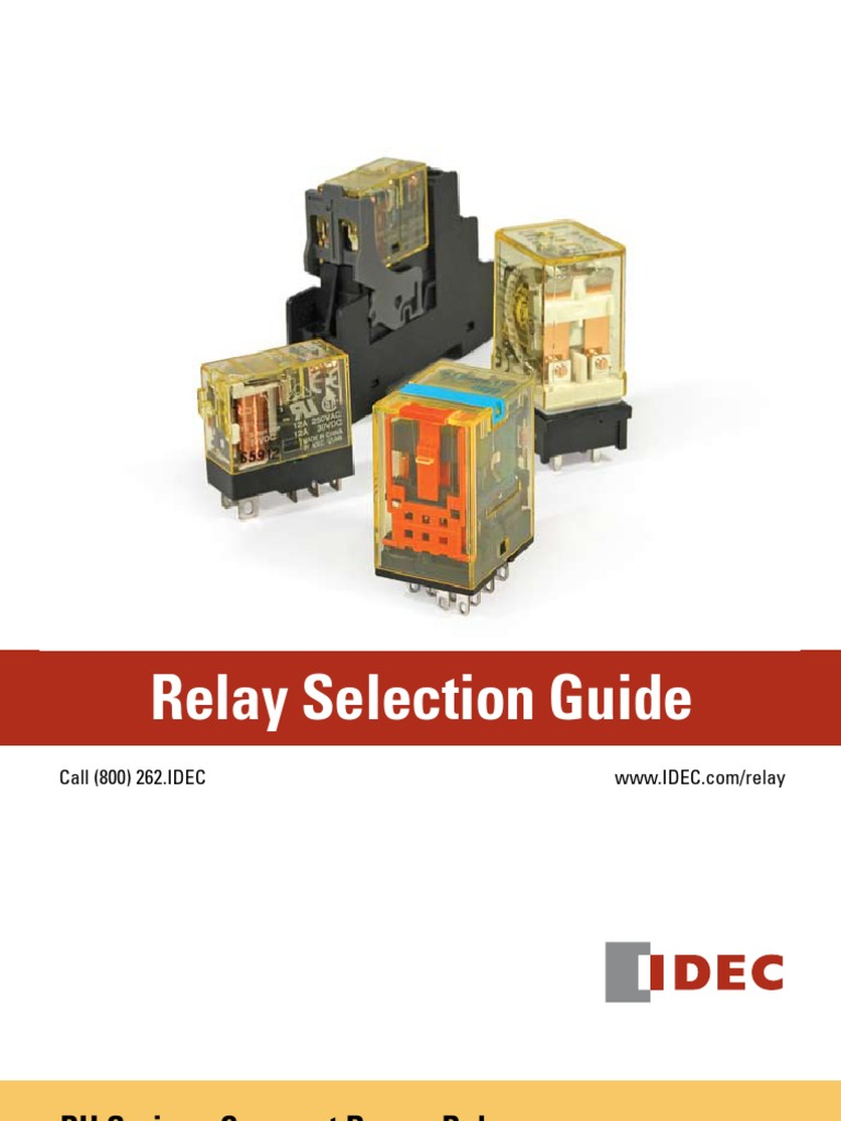 Relay Selection 20guide Switch Idec 8 Pin Wiring Diagram