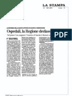 Ospedali la Regione declassa il Martini - La Stampa 08/11/2011