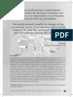 Perfil dos profissionais responsáveis - empresa de serviços contabeis