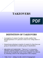 Takeovers Ppt