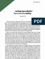 Pregando a apocalíptica - Fee