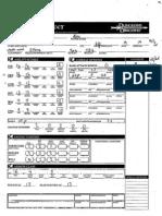 Irandill Character Sheet