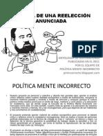 CRÓNICA DE UNA REELECCIÓN ANUNCIADA