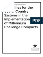 MCC Guidance Use of Country Systems