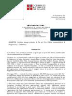 Interrogazione su FGA Officina Automobilistiche di Grugliasco (ex Bertone)