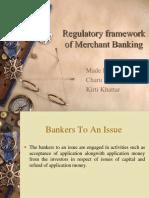 Regulatory Framework of Merchant Banking