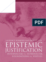 BonJour, Ernest Sosa - Epistemic Justification~ Internal Ism vs. External Ism, Foundations vs. Virtues - Wiley