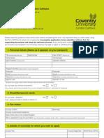 Editable CULC Application Form