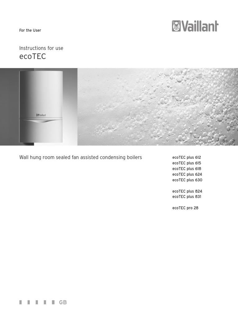 Vaillant Ecotec User Manual Water Heating Thermostat
