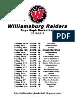 Williamsburg Soph 11-12