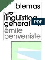 Benveniste Emile - Problemas de Linguistic A General II (CV)